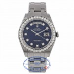 Rolex Day-Date Platinum Masterpiece Diamond Bezel Blue Diamond Dial 18946 FKTF1Z - Beverly Hills Watch Company Watch Store