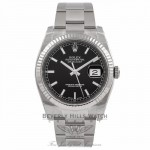 Rolex Datejust 36mm White Gold Fluted Bezel Black Dial Watch 116234 RENVUK - Beverly Hills Watch Company Watch Store