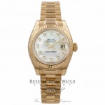Rolex Lady Datejust 26mm Automatic White Dial 18k Yellow Gold 179178 PWZLHF - Beverly Hills Watch Company