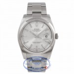 Rolex Datejust Stainless Steel 36mm Domed Bezel Silver Stick Dial116200 - TZEVA5 - Beverly Hills Watch Company Watch Store
