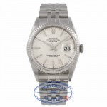 Rolex Datejust 36MM Stainless Steel 18k White Gold Fluted Bezel Silver Dial Jubilee Dial 16234 C26DKD - Beverly Hills Watch Company Watch Store