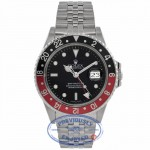 Rolex GMT- Master II 40MM Stainless Steel Black Dial Red & Black Bezel 16760 2DVV7J - Beverly Hills Watch Company Watch Store
