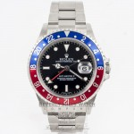Rolex GMT MASTER II 16710 Stainless Steel Oyster Bracelet Black Dial Blue and Red Pepsi Bezel Automatic Watch Beverly Hills Watch Company Rolex Watch Store