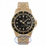 Rolex GMT Master II 40MM 18k Yellow Gold Black Dial Jubilee Bracelet 16718 WW8LVA - Beverly Hills Watch Company Watch Store