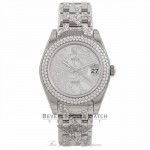 Rolex Masterpiece Oyster Perpetual Datejust Special Edition 34MM Diamond 18K White Gold 81339 - Beverly Hills Watch Store