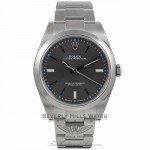 Rolex Oyster Perpetual 39mm Stainless Steel Dark Rhodium Dial Index Markings Bracelet 114300 70VYUF - Beverly Hills Watch Company