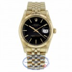 Rolex Oyster Perpetual Date 34mm 18k Yellow Gold 15037 WETA48 - Beverly Hills Watch Company