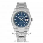 Rolex Oyster Perpetual 36mm Blue Dial Stainless Steel Oyster Bracelet 116234 7CU356 - Beverly Hills Watch