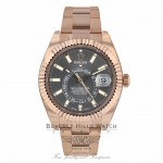 Rolex Sky Dweller Dark Rhodium Dial Everose Gold 326935 0LQX87 - Beverly Hills Watch Company