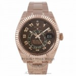 Rolex Sky Dweller Rose Sunray Chocolate Dial 18K Everose Gold 326935 9816PF - Beverly Hills Watch Company