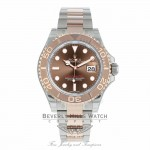 Rolex Yachtmaster 40mm Rose Gold and Stainless Steel 116621 ECTV11 - Beverly Hills Watch