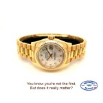 Rolex Lady Datejust 26mm Yellow Gold President Mother of Pearl Diamond Dial 179178 CW96XN