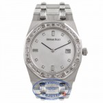 Audemars Piguet Royal Oak Platinum Mother of Pearl Diamond Dial 67606PT YICZKI - Beverly Hills Watch Company Watch Store