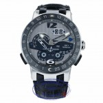 Ulysse Nardin El Toro GMT Silver Dial Platinum Perpetual Calendar 43mm 329-00 9791Z0 - Beverly Hills Watch Company