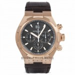 Vacheron Constantin Overseas Chronograph 42MM Rose Gold Brown Dial Brown Alligator Strap 49150/000R-9338 625VQ9 - Beverly Hills Watch Company