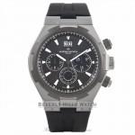 Vacheron Constantin Overseas Chronograph 42MM Stainless Steel Titanium Bezel Black Rubber Strap 49150/000W-9501 98HY5V  - Beverly Hills Watch Company Watch Store
