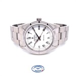 Rolex Air-king 34mm Stainless Steel White Roman Dial 14010 W5QW9Y - Beverly Hills Watch