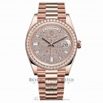 Rolex Day-Date 40mm Everose Gold President Pave Diamond Dial 228345RBR W72PQ5 - Beverly Hills Watch
