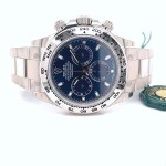 Rolex Daytona Chronograph 18K White Gold Oyster Bracelet Blue Dial 116509 ZEFVN1 - Beverly Hills Watch
