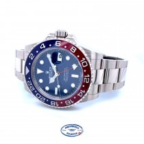Rolex GMT Master II 40mm Pepsi Blue Dial White Gold 126719BLRO - Beverly Hills Watch Company