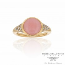 Naira & C Pink Opal Rose Gold Diamond Ring JI6UCN - Beverly Hills Watch