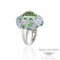Naira & C Green Quartz Diamond Ring with Tsavorites and Chalcedony SHPJVF - Beverly Hills Watch