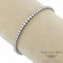 Naira & C Classic 6.86ct Diamond Tennis Bracelet 18K White Gold DQ7C7V - Beverly Hills Watch