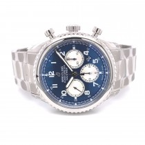 Breitling Navitimer 8 B01 43mm Stainless Steel Blue Dial AB0117131C1A1 1LDQFM - Beverly Hills Watch Company