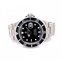 Rolex Submariner Date Stainless Steel Black Dial Oyster Bracelet 16610 1QXVJN - Beverly Hills Watch Company