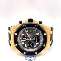 Audemars Piguet 42mm Royal Oak Offshore Rubber Clad Rose Gold 25940OK.OO.D002CA.01A 9ZJHXX - Beverly Hills Watch Company