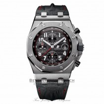 Audemars Piguet Audemars Royal Oak Offshore Black Dial Black Alligator Leather 26470ST.OO.A101CR.01 - Beverly Hills Watch