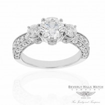 Designs by Naira 18k White Gold Diamond Engagement Ring 2R3TTW-ML 2R3TTW - Beverly Hills Jewelry Company