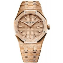 Audemars Piguet Royal Oak 33mm Frosted Rose Gold 67653OR.GG.1263OR.02 HU51J8 - Beverly Hills Watch Company