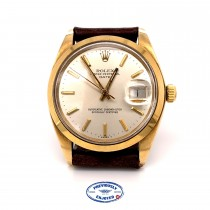 Rolex Date 34mm Yellow Gold Vintage Automatic 1500 37Z40V - Beverly Hills Watch Company