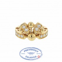 Bulgari Yellow Gold and Diamond Ring 345849 3F4JYN
