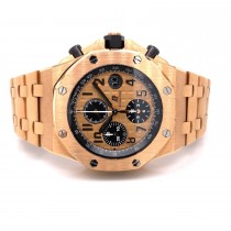 Audemars Piguet Royal Oak Offshore 42mm Rose Gold Chronograph 26470.OR.OO.1000OR.01 6JENJC  - Beverly Hills Watch Company