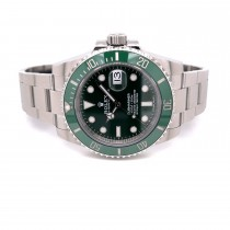 """Rolex Submariner Stainless Steel Green Ceramic Bezel and Dial """"Hulk"""" 116610LV 7UNERZ  - Beverly Hills Watch Company"""