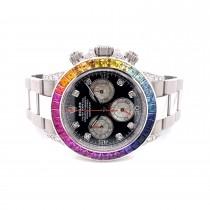 Rolex Daytona Rainbowish Stainless Steel 116520 7W0TT5 - Beverly Hills Watch Company