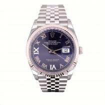 Rolex Datejust 36mm Purple Dial Diamond Roman 126234 82KAW7 - Beverly Hills Watch Company