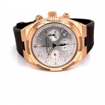 Vacheron Constantin Overseas 42.5mm Rose Gold Chronograph Silver Dial 5500V/000R-B074 86J8ZF - Beverly Hills Watch Company