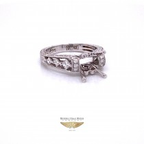 Diamond and 18K White Gold Semi-Mount Ring - Beverly Hills Watch and Jewelry Company
