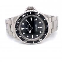 Rolex Submariner Vintage 1966 Stainless Steel Black Dial Bracelet 5513 8R527V - Beverly Hills Watch Company