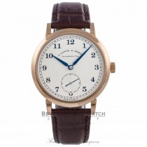 A. Lange & Sohne 1815 18k Rose Gold Silver Dial Alligator Strap 233.032 37PHEN - Beverly Hills Watch Company Watch Store