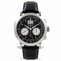 A. Lange & Sohne Datograph Up/Down 41MM Platinum Manual Wind Black Dial Silver Sub-Dials 405.035/LS4052AD IFX3W6 - Beverly Hills Watch Company Watch Store