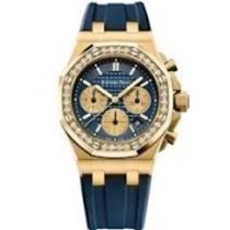 Audemars Piguet Offshore 37mm Diamond Bezel Blue Dial 26231BA.ZZ.D027CA.01 A97DT7 - Beverly Hills Watch Company