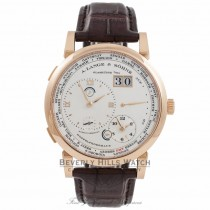 A. Lange & Sohne Lange 1 Time Zone 18k Rose Gold 116.032 AFQXHF - Beverly Hills Watch Company Watch Store
