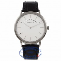 A.Lange & Sohne Saxonia Thin 40mm White Gold Silver Dial 211.026 1V09UL - Beverly Hills Watch Store