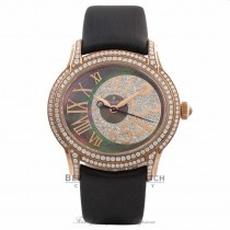Audemars Piguet Millenary 40MM Automatic 18k Rose Gold Diamond Bezel And Case Black Mother of Pearl Diamond Dial 77303OR.ZZ.D009SU.01 MY6NHR - Beverly Hills Watch Company Watch Store