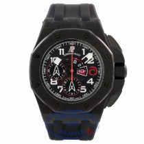 Audemars Piguet Watches Royal Oak Offshore Chronograph 44mm Special Editions CARBON ALINGHI Automatic Black Rubber Strap 26062.OO.A002CA.01 PT7NKF - Beverly Hills Watch Company Watch Store