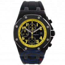 Audemars Piguet Royal Oak Offshore Bumblebee 42MM Forged Carbon Case Black Dial Rubber Strap 26176FO.OO.D101CR.01 CW3RTT  - Beverly Hills Watch Company Watch Store